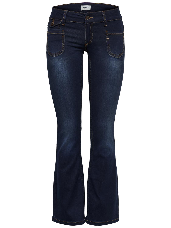 94bd54372ca4 ONLY Damen Hose EBBA SOFT BOOTCUT JEANS PIM201 denim dunkelblau Flared Fit