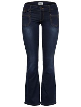 ONLY Damen Hose EBBA SOFT BOOTCUT JEANS PIM201 denim dunkelblau Flared Fit 001