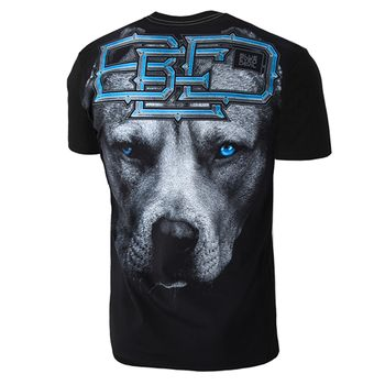 PIT BULL WEST COAST Herren T-Shirt BLUE EYED DEVIL schwarz California rundhals – Bild 3