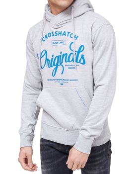 CROSSHATCH Herren Sweatshirt Pullover GILGURRY CH ORIGINALS PRINTS Kapuze – Bild 11