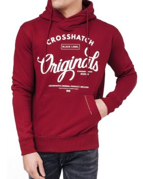 CROSSHATCH Herren Sweatshirt Pullover GILGURRY CH ORIGINALS PRINTS Kapuze – Bild 5