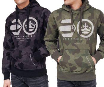 CROSSHATCH Herren Sweatshirt Pullover CAMILO CH CAMO PRINT HOODY Kapuze Tarnfleck Camouflage – Bild 1