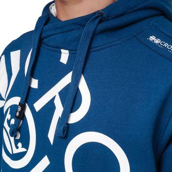 CROSSHATCH Herren Sweatshirt Pullover LYNTONS CH DIAG CHEST PRINT Hoody Kapuze – Bild 10