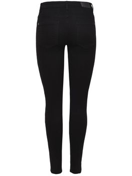 JDY by ONLY Damen Hose Jeans Leggings jdyNEW FIVE PANT DNM schwarz – Bild 3