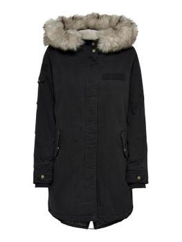 ONLY Damen Winterjacke Jacke Mantel onlMAY FUR CANVAS PARKA OTW Teddyfell Kapuze – Bild 1