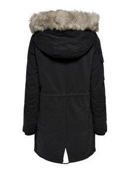 ONLY Damen Winterjacke Jacke Mantel onlMAY FUR CANVAS PARKA OTW Teddyfell Kapuze – Bild 3
