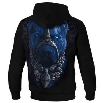PIT BULL WEST COAST Herren Hoodie Sweatshirt Sweatpullover HOODED SKULL DOG 18 schwarz Kapuze  Hund – Bild 2