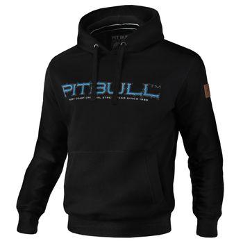 PIT BULL WEST COAST Herren Hoodie Sweatshirt Sweatpullover HOODED BLUE EYED DEVIL 18 schwarz Kapuze  Hund – Bild 1