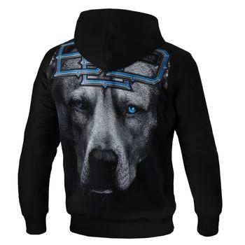 PIT BULL WEST COAST Herren Hoodie Sweatshirt Sweatpullover HOODED BLUE EYED DEVIL 18 schwarz Kapuze  Hund – Bild 2
