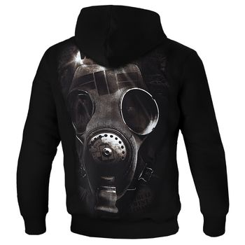 PIT BULL WEST COAST Herren Hoodie Sweatshirt Sweatpullover HOODED FUCK THE WORLD 18 schwarz Kapuze Gasmaske – Bild 2