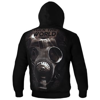 PIT BULL WEST COAST Herren Hoodie Sweatshirt Sweatpullover HOODED FUCK THE WORLD 18 schwarz Kapuze Gasmaske – Bild 3