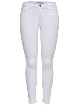 JDY by ONLY Damen Hose Jeans Leggings JDYNEWFIVE SKINNY RW WHITE PNT weiß