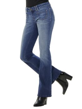 ONLY Damen Hose onlNEW EBBA LOW FLARED JEANS BB REA6657 denim Bootcut blau
