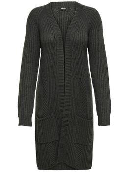 ONLY Damen Strickjacke Jacke onlFREYA L/S LONG CARDIGAN lang oversize Taschen 001