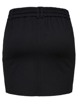 ONLY Damen Rock onlPOPTRASH EASY SKIRT PNT NOOS Stretch kurz schwarz – Bild 2