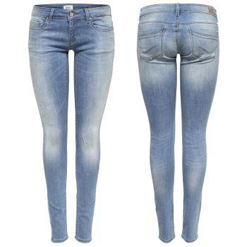 ONLY Damen Hüft Jeans Hose onlCORAL SL SK BB CRE185063 Superlow Skinny hellblau – Bild 1