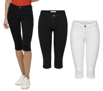 JDY by ONLY Damen Jeans Hose Capri JDYNEWFIVE KNICKERS PNT Sommer schwarz weiß