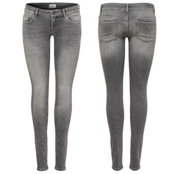ONLY Damen Hüft Jeans Hose onlCORAL SL DNM JEANS REA0918 superlow skinny grau – Bild 1