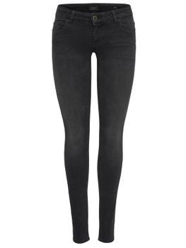 ONLY Damen Hüft Jeans Hose onlCORAL SL DNM REA1099 superlow skinny schwarz grau – Bild 2