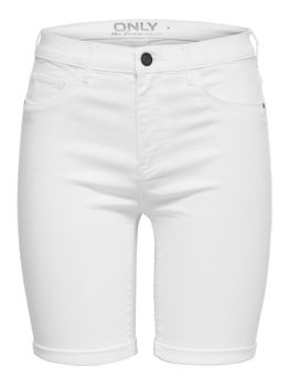 ONLY Damen kurze Jeans Hose onlRAIN MID LONG SHORTS WHITE CRY9090 Sommer