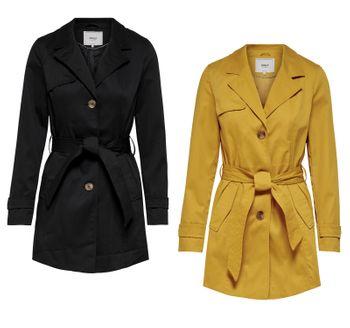 ONLY Damen Mantel Jacke onlFINESSE LONG TRENCHCOAT OTW Übergang – Bild 1