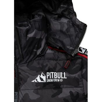 PIT BULL WEST COAST Herren Winterjacke Jacke PADDED HOODED JACKET AIRWAY all black camo – Bild 3