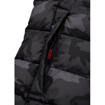 PIT BULL WEST COAST Herren Winterjacke Jacke PADDED HOODED JACKET AIRWAY all black camo – Bild 5
