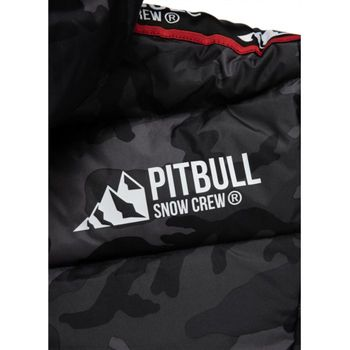 PIT BULL WEST COAST Herren Winterjacke Jacke PADDED HOODED JACKET AIRWAY all black camo – Bild 9