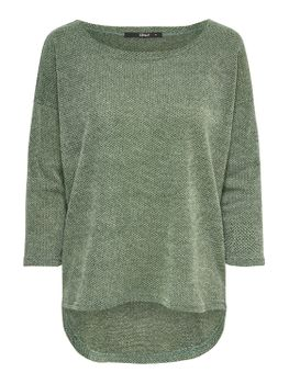 ONLY Damen Oversize Pullover onlALBA 3/4 TOP JRS NOOS Strick Shirt vokuhila color mix – Bild 2