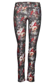 ONLY Damen Jeans Hose DUFFY FLOWER AOP LEGGING Gr. XS - L – Bild 1
