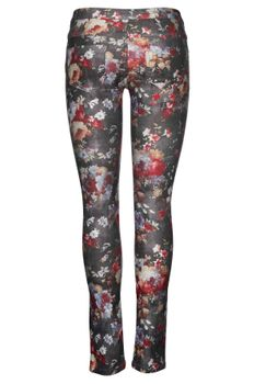 ONLY Damen Jeans Hose DUFFY FLOWER AOP LEGGING Stretch Jeggings – Bild 2
