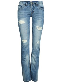 ONLY Damen Denim Jeans Hose STRAIGHT LOW AUTO DESTROY BJ 2368 chiara