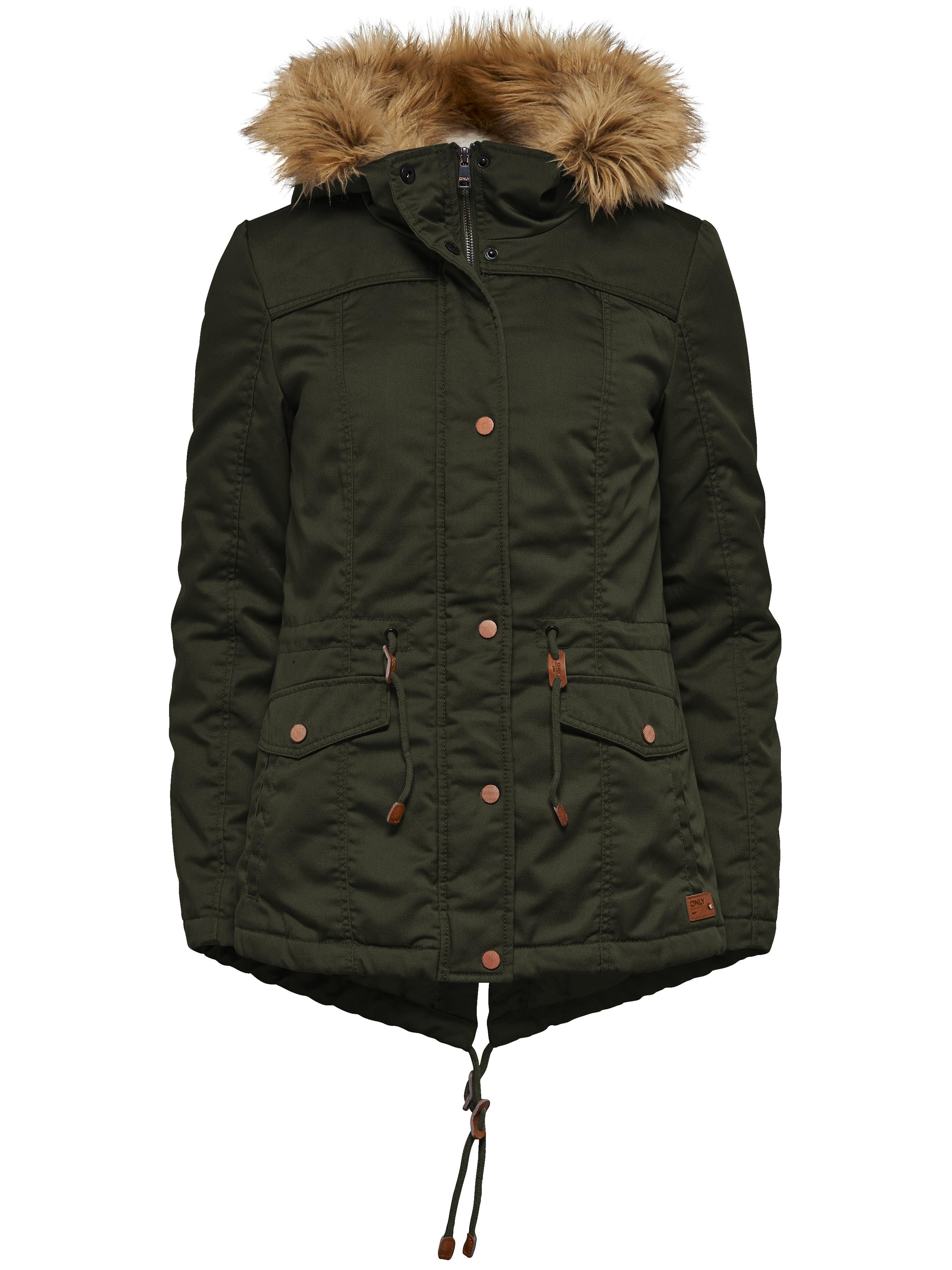 spätester Verkauf am besten kaufen große Auswahl an Farben ONLY Damen Winterjacke Jacke onlKATE SHORT CANVAS JACKET Parka khaki grün