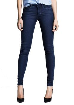 ONLY Damen Jeans Leggings ROYAL REG SKINNY PIM 101 dark blue denim