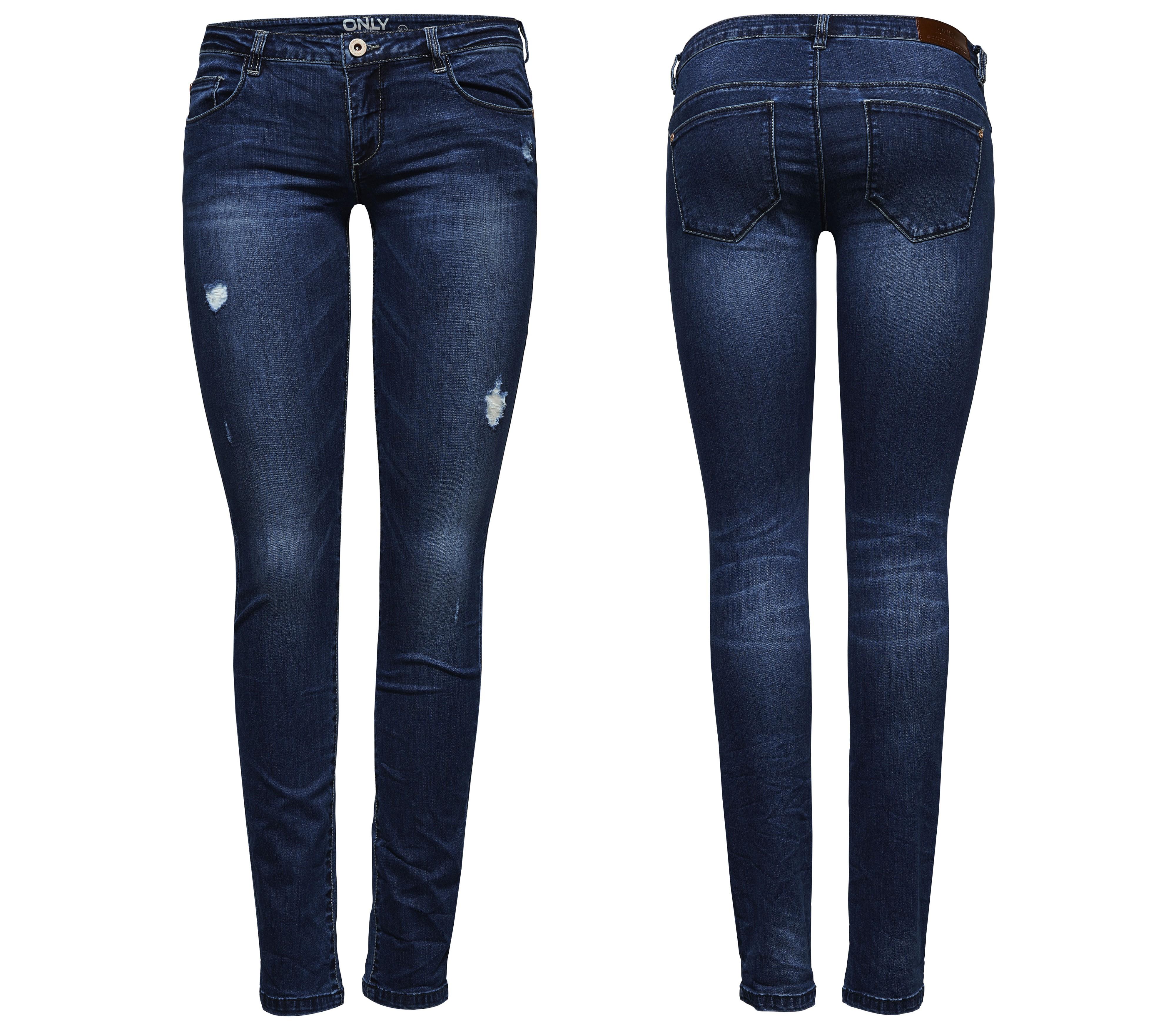 ital design bestickte low skinny jeans f r damen. Black Bedroom Furniture Sets. Home Design Ideas