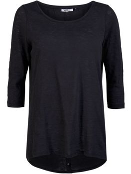 ONLY Damen Pullover Shirt CASA 3/4 BUTTON TOP JRS NOOS vokuhila oversize – Bild 2