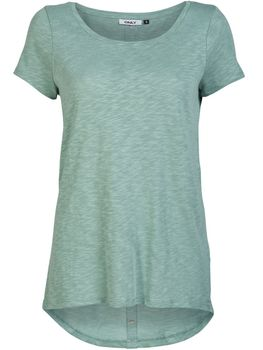 ONLY Damen T-Shirt Top CASA S/S BUTTON TOP JRS NOOS vokuhila oversize – Bild 2