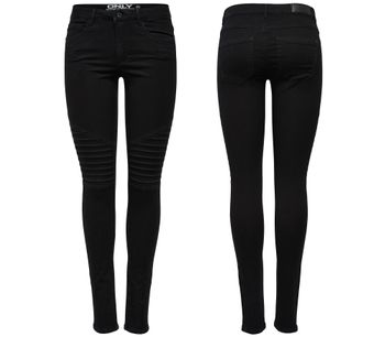 ONLY Damen Jeans Leggings onlROYAL REG SK BIKER PIM 600 NOOS black schwarz