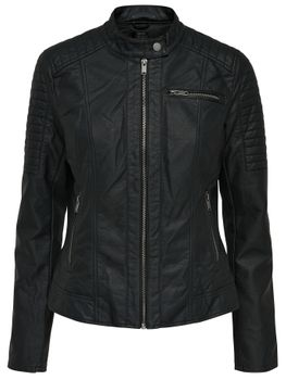 ONLY Damen Lederjacke Jacke NEW START FAUX LEATHER JACKET PU Biker black schwarz