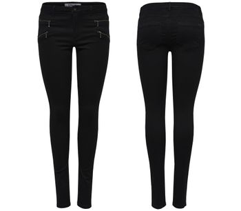 ONLY Damen Jeans Leggings onlROYAL REG SKINNY ZIP NOOS black schwarz