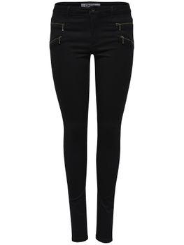 ONLY Damen Jeans Leggings onlROYAL REG SKINNY ZIP NOOS black schwarz – Bild 2