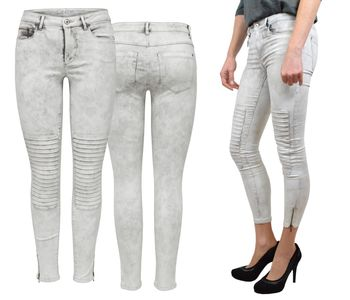 ONLY Damen Jeans Leggings onlROYAL REG SK ANKLE RACE PIM 403 biker denim knöchellang – Bild 1