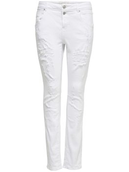 ONLY Damen Boyfriend Jeans onlLISE ANTIFIT DESTR WHITE weiß denim destroy – Bild 1