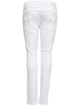 ONLY Damen Boyfriend Jeans onlLISE ANTIFIT DESTR WHITE weiß denim destroy – Bild 2