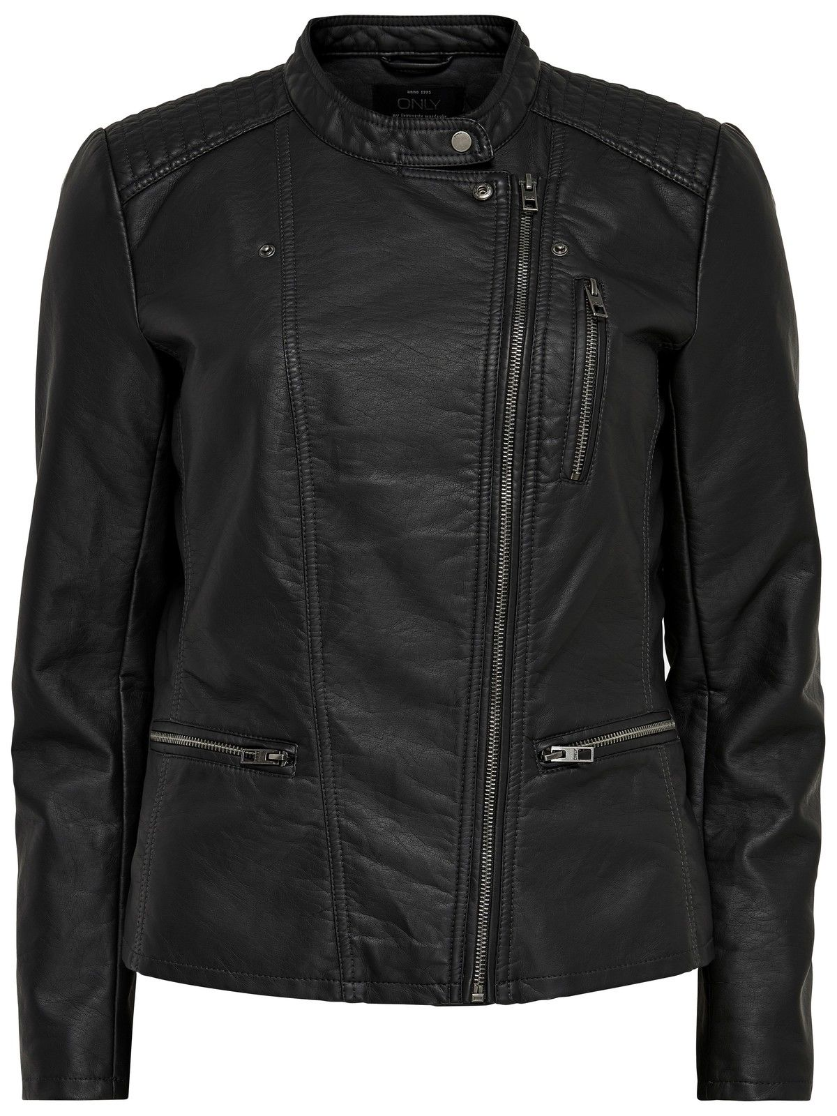 only damen lederjacke jacke onlfreya faux leather biker. Black Bedroom Furniture Sets. Home Design Ideas