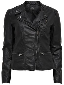ONLY Damen Jacke onlFREYA FAUX LEATHER BIKER NOOS Kunstleder – Bild 2