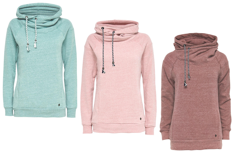 4eb41d042461 ONLY Damen Sweat-Shirt Pullover onlJILL L S HOOD SWT Hoodie braun rosa grün