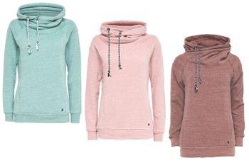 ONLY Damen Sweat-Shirt Pullover onlJILL L/S HOOD SWT Hoodie braun rosa grün – Bild 1
