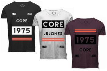 JACK & JONES CORE Herren T-Shirt J CO NILES TEE SS CREW NECK 001