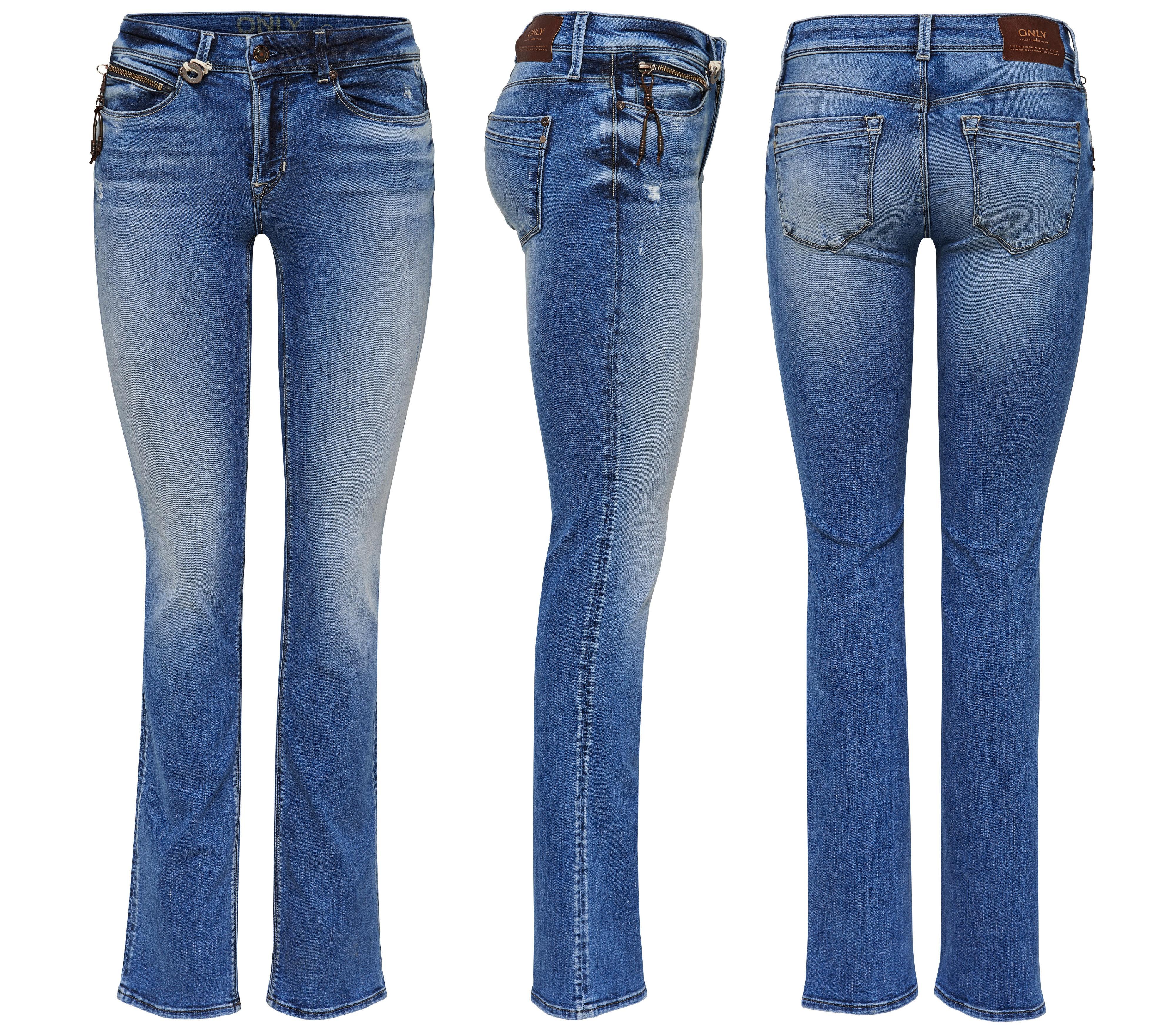 ONLY Damen Jeans onlELLA REG ST DNM REA 3577A NOOS straight regular ... 3e32279276